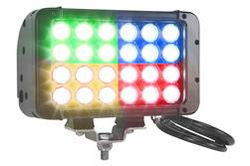 72 Watt Colored LED Light - 24 LED - 4320 lumens - 4 Colors - Surface Mount - Extreme Environment
