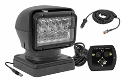 24V 36 Watt Golight Wired Remote Control LED Spotlight - 900' Beam - High Power LEDs - Perm. Mount