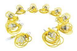 100ft ajutine ehituskeele valgus - kümme LED töövalgustit - 100 Watt LED Stringer