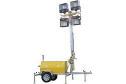 6,000 Watt 220V Water Cooled Diesel Generator - 30' Telescoping Tower - 4x 1000W Metal Halides