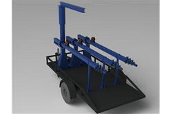 14' Single Axle Trailer - 14' x 8.35' Bed - Jib Hoist Equipped - Holds and Transports 3 Light Towers