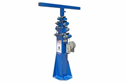 11' Five Stage Fixed Mount Telescoping Light Mast - Extends to 11 Feet - Collapses to 4 Feet