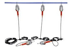 Explosion Proof String Lights - Class 1 & 2, Division 1 - 5 Drop Lights - Inline GFI
