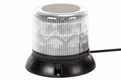 10.2 Watt Single LED Strobing Beacon - Pipe Mount - White - High Output Strobe Light
