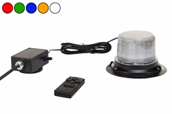 Class 1 LED Beacon with 30 Strobe Light Patterns - Wirelesss Remote - Magnet Mount