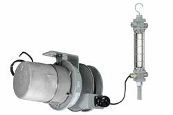 Carrete de luz y cable de caída LED de aluminio a prueba de explosiones - Clase I, Div. I - 25 'SOOW Cord - 2' LED Tube