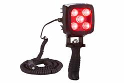 25W Red LED Handheld Hunting Spotlight - 2250 Lumens - Durable Construction - IP67