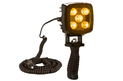 25W Amber LED Handheld Hunting Spotlight - 2250 Lumens - Durable Construction - IP67
