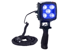 25W Blue LED Handheld Hunting Spotlight - 2250 Lumens - Durable Construction - IP67