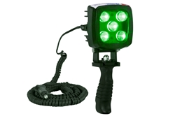25W Green LED Handheld Hunting Spotlight - 2250 Lumens - Durable Construction - IP67