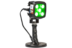 25W Green LED Handheld Hunting Spotlight - 2250 Lumens - 12-24V DC - Magnetic Base - IP67