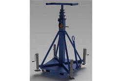 Valguse ja varustuse masti - manuaalse vända vintsi - väikese kinnitusega - 13-50 '- pukseeritav - terasest konstruktsioon