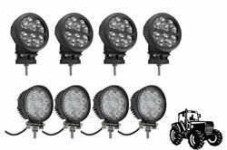 Kit de actualización de la luz LED de la cabina para tractores John Deere 4440 - (4) LEDLB-10R-CPR - (4) IL-LED-27R