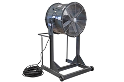 "24"" Explosion Proof High Velocity Fan - 6500 CFM - 1/2 HP - Class I, Group D; Class II, Groups F & G"