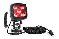 25W Kırmızı LED Spot Aydınlatma - Mıknatıslı Montaj Tabanı ve Kontrol Kolu - 2250 Lümen - IP67 - 12-24V DC