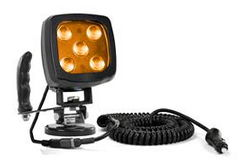 25W Kehribar LED Spot Işığı - Mıknatıslı Taban ve Kontrol Kolu - 2250 Lümen - IP67 - 12-24V DC