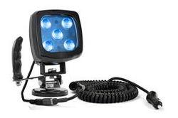 25W Mavi LED Spot Işık - Magnetli Taban ve Kontrol Kolu - 2250 Lümen - IP67 - 12-24V DC