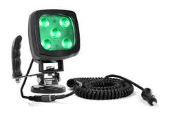 25W Yeşil LED Spotlight - Magnetli Taban ve Kontrol Kolu - 2250 Lümen - IP67 - 12-24V DC