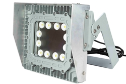100 Watt Explosion Proof LED Wall Pack Light with Glare Shield - Surface Mount - 11,667 Lumens -C1D1