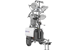 25' Telescoping Mobile Security Light Tower - 7.5 kW Diesel Generator - 4 MH, 4 Cameras - 2TB NVR