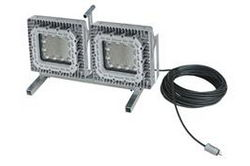 Portable Explosion Proof LED Light with Pedestal Stand - 2 X 150 Watt LED Lights -140°-Class 1 Div 1