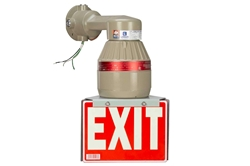 26W Explosion Proof Compact Fluorescent Exit Sign - 1800/450 Lumens - Class I, Div. 1 & 2