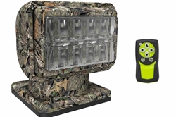 36W Golight LED Stanchion Mount Camo Spotlight - Wireless Remote - Navigational Lights - 900'  Beam