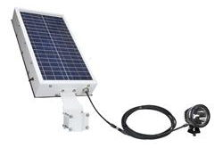 25W Solar Powered LED Light - 2750 Lumens - 15 Hour Run Time - Day/Night Photocell or Motion Sensor