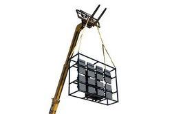 * KİRALIK * 7680W Skid Dağı LED Işık Tesisi - (16) 480W LED Armatürler - 480V AC 3 Faz - Vinç Işık