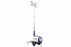4000W Metal Halide Light Tower - 6kW Diesel Generator - 30' Tower - 30 Gal Capacity w/ 60-hr Runtime