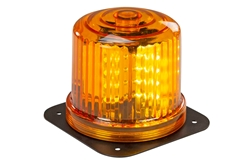 "Amber LED 360 Degree Beacon - 20 LEDS - Battery Powered - 6"" x 6"" Steel Permanent Mounting Plate"