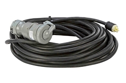 15A Explosion Proof Extension Cord - 100' 12/3 SOOW Cord w/ General Area Plug - EXP Connector