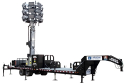 77' Hydraulic Megatower™ Light Plant - 33' Trailer - (20) 500W LED Fixtures - 20KW Genset w/ 110 Gal