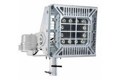 150W Explosion Proof Pole Mount LED Fixture - Slip Fitter Yoke - C2D1/C1D2 - Day/Night Photocell