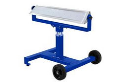 160W Mobile LED Light Stand w/ Wheels - 360 Rotation - Dual Wheels - IP65 Waterproof