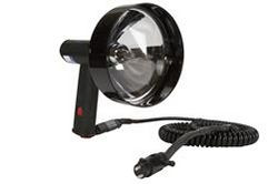 100W Handheld Halogen Hêzen - 5 Million Mûlek - Spot / Flood - 16 'Cord w / 2-Pin Marine Plug