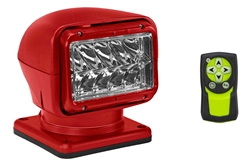 65W Golight Radioray Motorized Halogen Spotlight - 1300 Lumens - (1) Wireless Remote - Red Housing