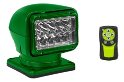 65W Golight Radioray Motorized Halogen Spotlight - 1300 Lumens - (1) Wireless Remote - Green Housing