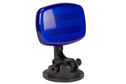 LED Blue Strobe Light - 18 LEDS - Battery Powered - Bracket Mount - Continuous or Strobe Output