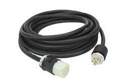100 '8 / 5 Tipo W Cable de extensión - (1) 5-Pin Milspec Plug - Duplex GFCI - 40 Amp - Navy Marine Rated