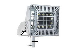 150W Explosion Proof Adjustable Pole Top Mount LED Light Fixture - Slip Fitter Yoke - Wire Guard