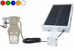 Solar Power LED Explosion Proof Light - C1D1 - Strobe/Steady - Slip Fit Mount - (4) 8aH Batteries
