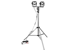100W Dual LED Work Light w/ Adjustable Tripod Mount - 8600 Lumens - 3.5' to 10' Adjustable Height