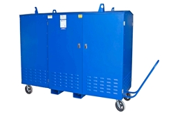 75 KVA Portable Power Distribution - 480V-120/240V 1PH - NEMA 3R - (4) Steel Legs w/ Bottom Plates