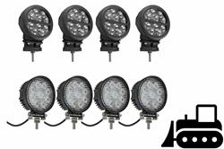 Kit de actualización de la luz LED de la cabina para Bulldozers D4E de Caterpillar - (4) LEDLB-10R-CPR - (4) IL-LED-27R