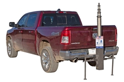 Trailer Hitch Mount Equipment Tower - Telescoping 7.6' to 20' - 4-Stage Aluminum Tower - Anodized Aluminum
