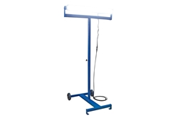 160W Mobile LED Light Stand w/  Dual Wheels - 360 Rotation - IP65 - 4' Stand - Extends to 7'