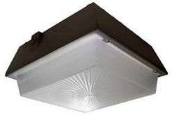 45 Watt Low Profile LED Canopy Light - Emergency Battery Backup- 120-277V AC - IP65