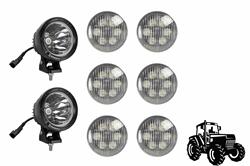 Kit de actualización de luces de cabina LED para tractores John Deere 4230 - (6) Lámparas LED18W-PAR36 y (2) LED25WRE-CPR