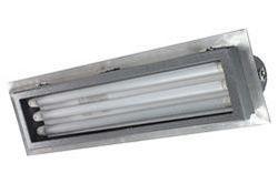 C1D2 Explosion Proof UV Fluorescent Fixture - (3) 2' T8 UV Lamps - 120-277V AC - Flange Mount